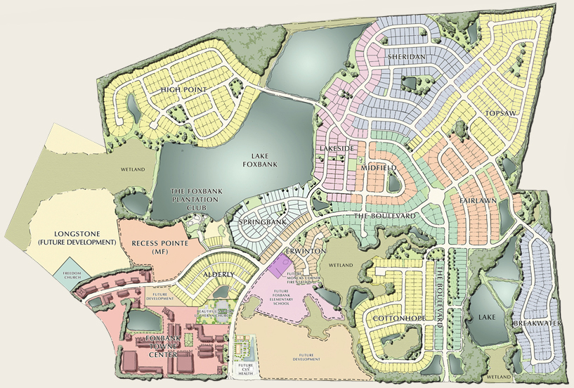 Foxbank Plantation Site Plan