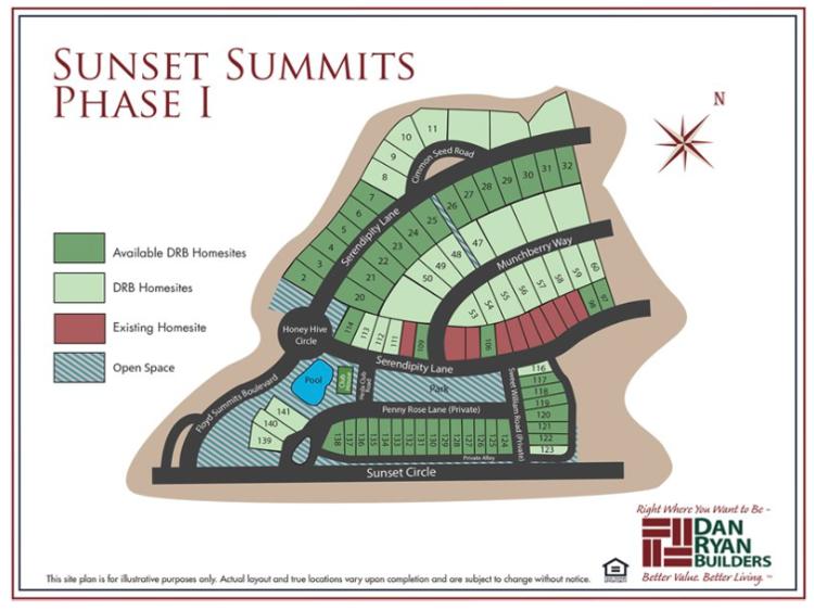 Sunset Summits Phase 1 site plan